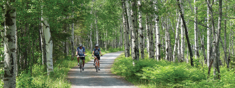 Cycling in Lac St. Jean, Quebec