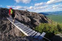 Bridges cross peaks and cut through forest on the Charlevoix Traverse |  <i>Pierre Bouchard</i>