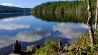 Stopping to enjoy the reflections on pretty Upper Sliammon Lake, SCT |  <i>Keri May</i>