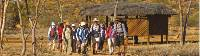 Trekkers embarking at the beginning of the Larapinta Trail, the old Telegraph Station |  <i>Peter Walton</i>
