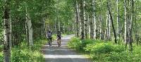Cycling through Pt.Taillon National Park along Lac St. Jean, Quebec