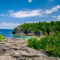 The Bruce Trail is one of Canada's most striking coastal hikes