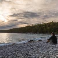 Cobblestone beach in Bruce Peninsula NP   Parks Canada