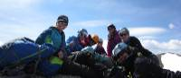 Taking a well earned break on our Women's Canadian Rockies mountaineering course