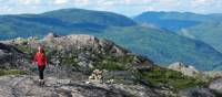 Enjoying a rocky outcrop in the Laurentian Mountains | Pierre Bouchard