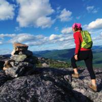 The 105km Charlevoix Traverse forest hike offers some great rewards!   Pierre Bouchard