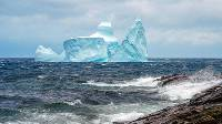 A castle-shaped iceberg floats past Cape Spear |  <i>Newfoundland and Labrador Tourism</i>