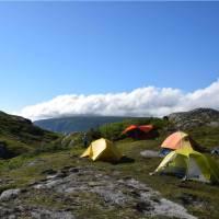 Campsite above Ten Mile Pond on the Long Range Traverse