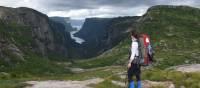 Backpacker enjoying the classic Western Brook views