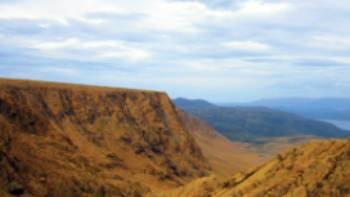 Exposed earth's mantle of the Tablelands in Newfoundland