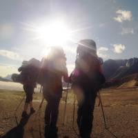 Starting a beautiful day on Akshayuk Pass, Baffin Island | Louis-Philip Pothier