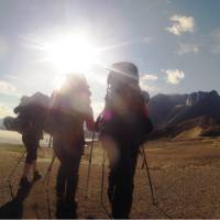 Starting a beautiful day on Akshayuk Pass, Baffin Island   Louis-Philip Pothier
