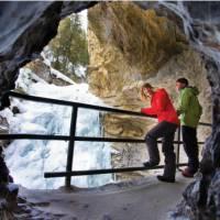 Winter walk in Johnston Canyon   Banff Lake Louise Tourism