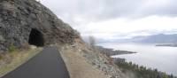 Approaching an old rail tunnel along Lake Okanagan, BC | Annika Rautiola