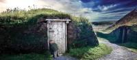 Sod Hut at L'Anse aux Meadows, Newfoundland | Barrett & MacKay Photo