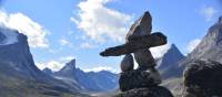 Inuksuk at the Inuit travel corridor, Akshayuk Pass | ©Parks Canada/Eric Brown