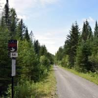 Quiet trail along le P'tit Train du Nord   Nathalie Gauthier