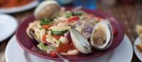 Seafood spaghetti at a local restaurant, Prince Edward Island | Guy Wilkinson