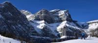 Blue skies, rocky peaks, and pristine white snow make the perfect playground