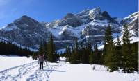 Snowshoeing in the beautiful Canadian Rockies