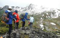 Ridge-top drop-off in the Purcell Mountains |  <i>Keri May</i>