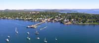 Pleasure boats dot the coastline of charming St. Andrews By-the-Sea   New Brunswick Tourism