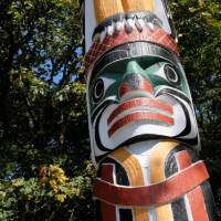 The World's tallest Totem Pole can be found in Beacon Hill Park, Victoria