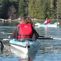 Kayaking off the coast of Tofino, Vancouver Island